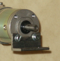 Spindle end motor support